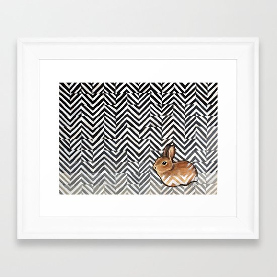 Little Miss Sarah Framed Art Print