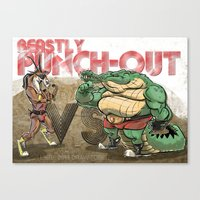 Beastly Punch-Out Canvas Print