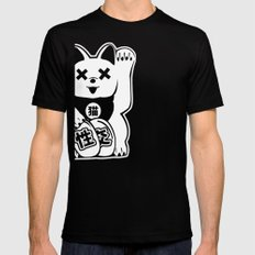 Maneki Neko Mens Fitted Tee Black SMALL