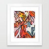 Painted Jungle 2 Framed Art Print