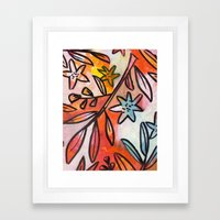 Painted Jungle 2 Framed Art Print