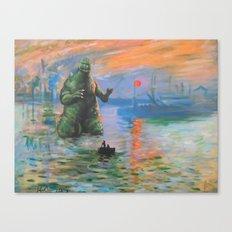 Impression Kaiju Canvas Print