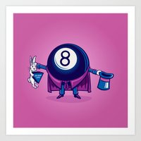 The Magic Eight Ball Art Print