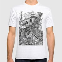 Beyond The Deepwoods Mens Fitted Tee Ash Grey SMALL