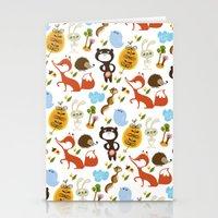 Fox, Bear And Rabbit Stationery Cards