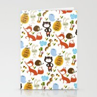 Fox, bear and rabbit Stationery Cards