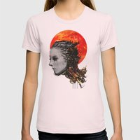 Just A Ghost In The Shel… Womens Fitted Tee Light Pink SMALL