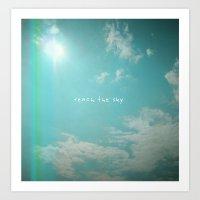 Reach The Sky Art Print