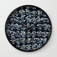 Abstract Series of Skulls Wall Clock