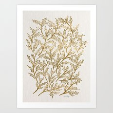 Gold Branches Art Print
