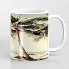 Retro Vintage Palm Tree with Hawaii Summer Sea Beach Mug