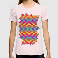 Psychedelic Womens Fitted Tee Light Pink SMALL