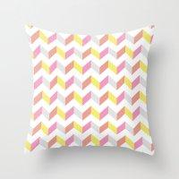 Yellow & Pink Throw Pillow