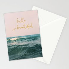 Hello Beautiful (Pink Waves) Stationery Cards