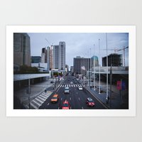 Oncoming Traffic  Art Print