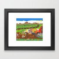 Regurgitated Storytellin… Framed Art Print