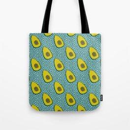 Tote Bag - Fer Shure - memphis retro throwback avocado love fruit vegetable vegan vegetarian raw food art - Wacka