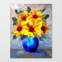 FLOWERS - A Vase Of Sunf… Canvas Print