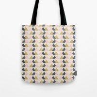 Gold + Black + Pink Mountains Tote Bag