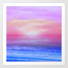 Purple sky Art Print
