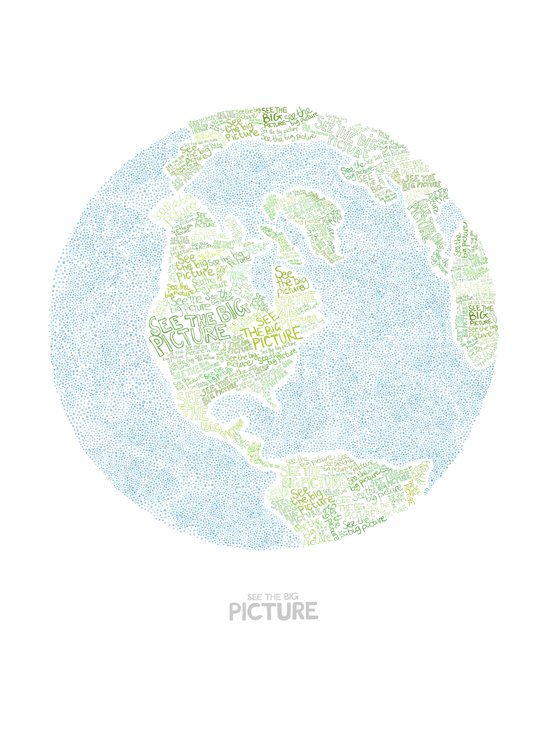See the big picture Art Print