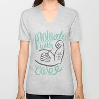 Motivate with Cake Unisex V-Neck