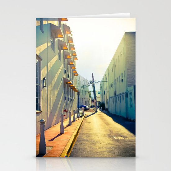 South Beach Sunrise Stationery Card