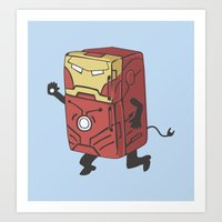 Refrig'r-Iron-Man Art Print