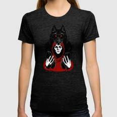 red ridin' hood Womens Fitted Tee Tri-Black SMALL