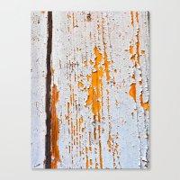Peeling wooden door detail Canvas Print