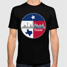 Dallas Texas Skyline Mens Fitted Tee Black SMALL
