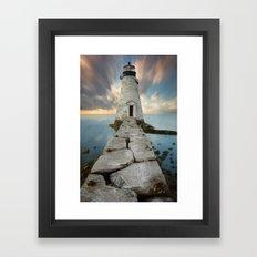 Palmer Island Lighthouse Framed Art Print