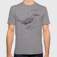 anomal Mens Fitted Tee Athletic Grey SMALL
