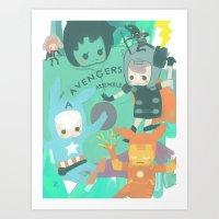 Avengers Assemble. Art Print