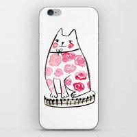 Flower Cat  iPhone & iPod Skin