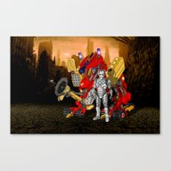 Cyberman With Upgraded D… Canvas Print