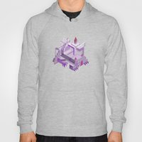 Den of the Headless Lion in Purple and Lavender Hoody