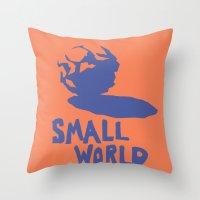 Small World Throw Pillow