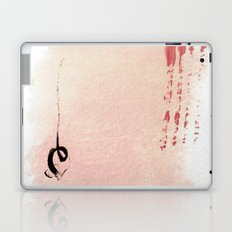 Muted Abstract 1 -  ink and acrylic in pinks and black Laptop & iPad Skin