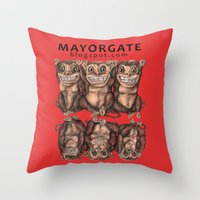 Emancipated Monkeys  Throw Pillow