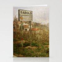 Barolo vineyards, Piedmont, Italy Stationery Cards