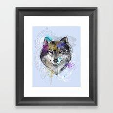 Sasha's Wolf Blue Framed Art Print