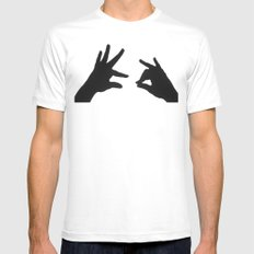 Did you hear the one about ... SMALL White Mens Fitted Tee