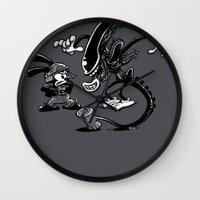 Alien Vs Oswald Wall Clock