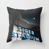 Tiger Stadium  Throw Pillow