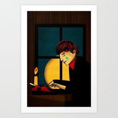 The Crying Writer Art Print