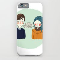 iPhone Cases featuring I Can't See Anything I Don't Like About You by Nan Lawson