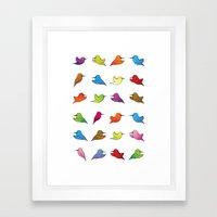 Humming Birds Framed Art Print