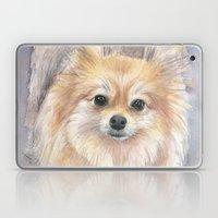 Pomeranian Watercolor Pom Painting Laptop & iPad Skin