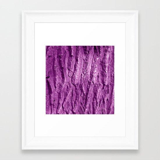 purple tree bark II Framed Art Print